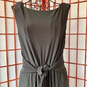 Anne Klein Gorgeous Black Stretch Wrap Midi NWOT